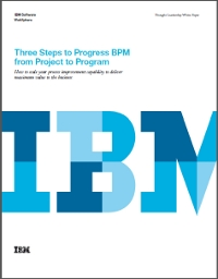 Three Steps to Progress BPM from Project to Program